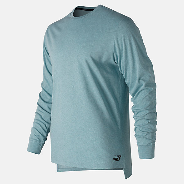 New Balance R.W.T. Long Sleeve Heathertech Tee, MT91048BLF