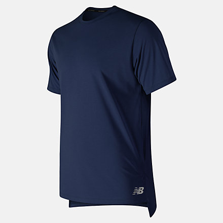New Balance R.W.T. Heathertech Tee, MT91053PGM image number null