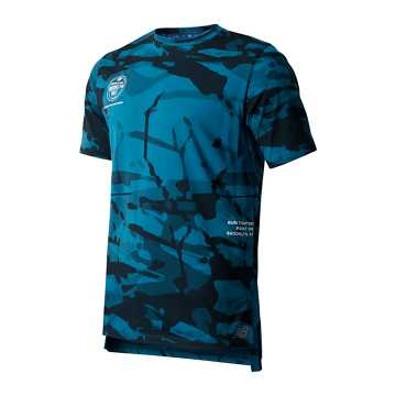 New Balance Brooklyn Half R.W.T. Heathertech Training Tee, Dark Neptune
