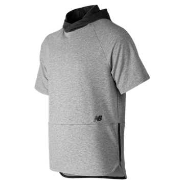 New Balance R.W.T. Short Sleeve Hoodie, Athletic Grey