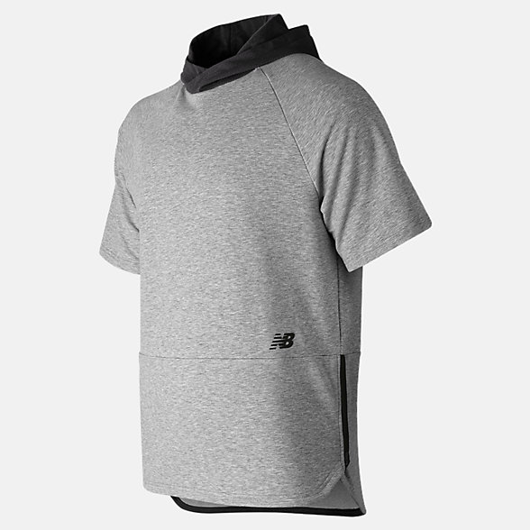 New Balance R.W.T. Short Sleeve Hoodie, MT91055AG