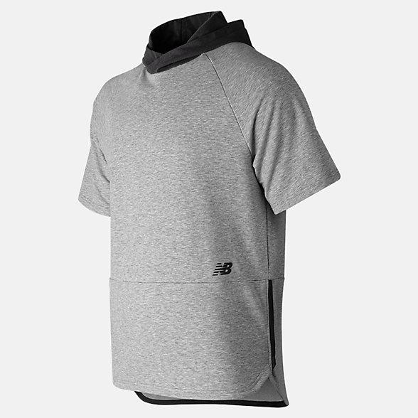 New Balance R.W.T. Short Sleeve Hoodie, MT91055AG