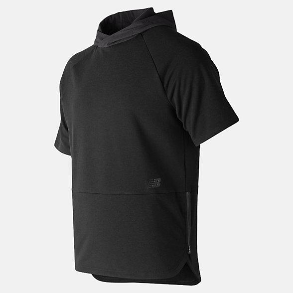 New Balance R.W.T. Short Sleeve Hoodie, MT91055BK