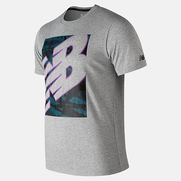 New Balance T-shirt technique chiné NB, MT91082AG