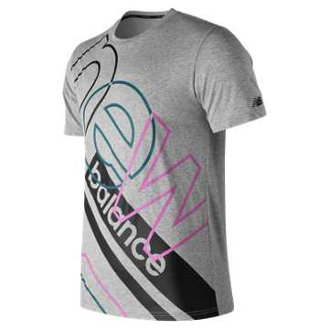 New Balance Modern Heathertech Tee, Athletic Grey