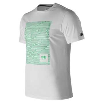 New Balance Hd Heathertech Tee, White