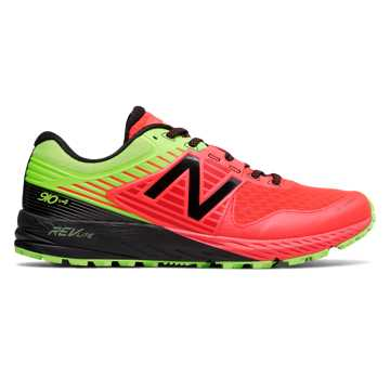 New Balance 910v4 Trail, Energy Red with Energy Lime & Black
