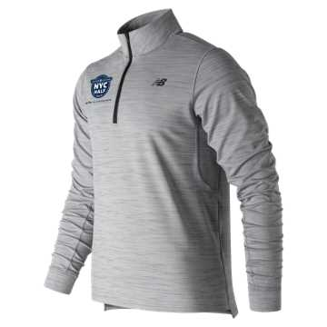 New Balance United Airlines Half Anticipate 2.0 Quarter Zip, Athletic Grey
