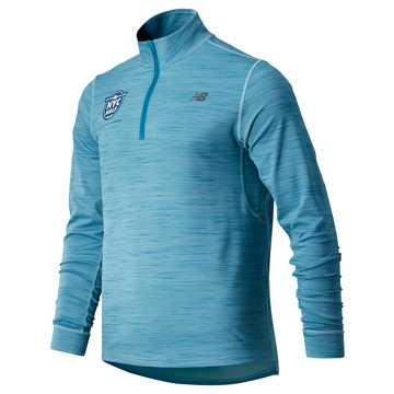 New Balance United Airlines Half Anticipate 2.0 Quarter Zip, Bluefog
