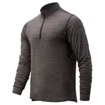 New Balance Anticipate 2.0 Quarter Zip, Heather Charcoal