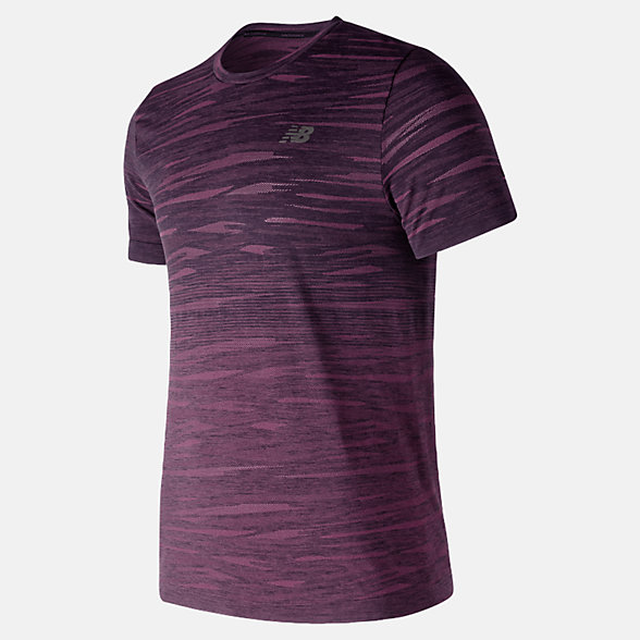 New Balance Cool Current Jacquard Short Sleeve, MT91141DCN