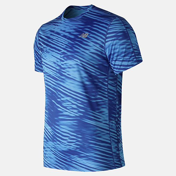 New Balance Printed Accelerate Short Sleeve, MT91162BB
