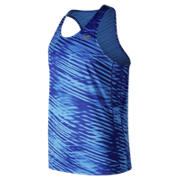 New Balance Printed Accelerate Singlet, Light Cobalt
