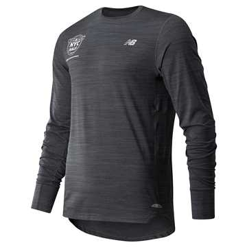 New Balance United Airlines Half Seasonless Long Sleeve, Heather Charcoal