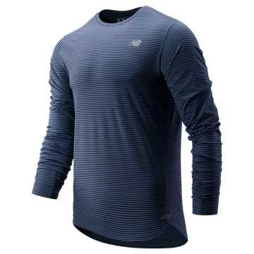 New Balance Seasonless Long Sleeve, Chambray with Pigment