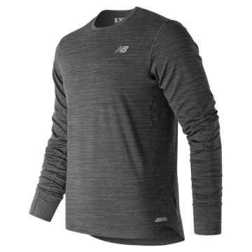 New Balance Seasonless Long Sleeve, Heather Charcoal