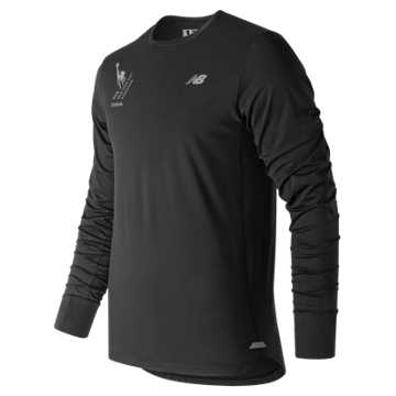 New Balance NYC Marathon Seasonless Long Sleeve, Black