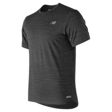 New Balance Seasonless Short Sleeve, Heather Charcoal