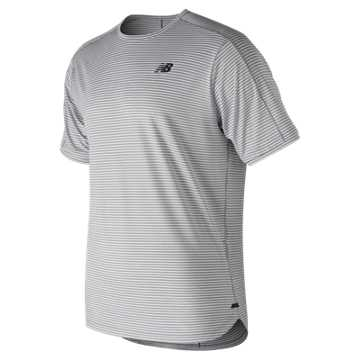 New Balance Q Speed Shadow Short Sleeve, Athletic Grey