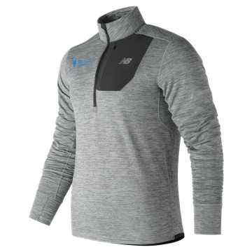 New Balance NYC Marathon NB Heat Training Quarter Zip, Grey