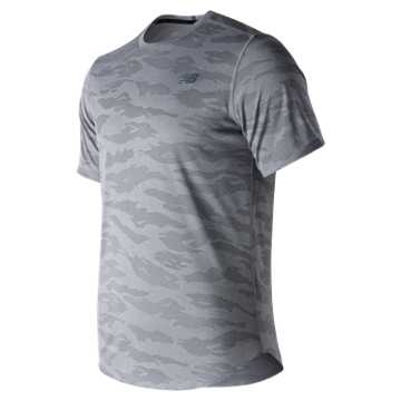 New Balance Q Speed Breathe Short Sleeve, Athletic Grey