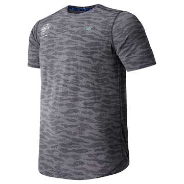 New Balance Brooklyn Half Q Speed Breathe Short Sleeve, Black Heather