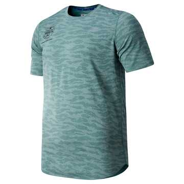 New Balance Brooklyn Half Q Speed Breathe Short Sleeve, Dark Agave