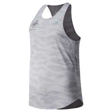New Balance Brooklyn Half Q Speed Breathe Tank, Athletic Grey