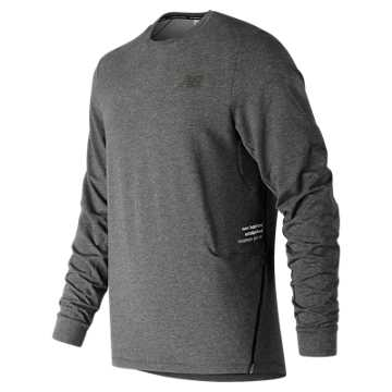 7560bcdf2bc2 New Balance Q Speed Softwear Crew, Heather Charcoal