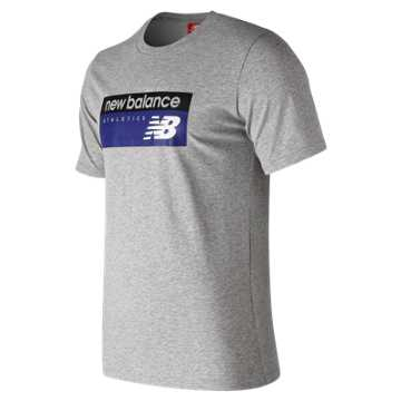 New Balance NB Athletics Banner Tee, Athletic Grey