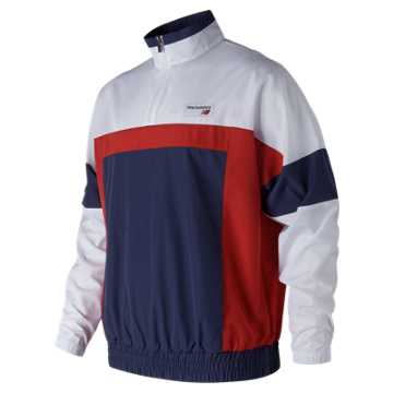 New Balance NB Athletics Windbreaker Pullover, Team Red Inline