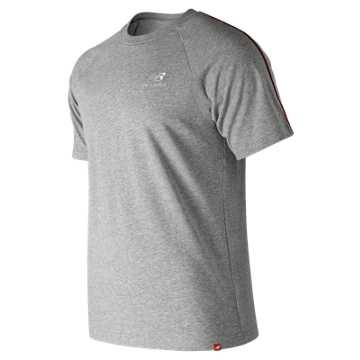 New Balance Essentials Pinstripe Tee, Athletic Grey