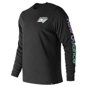New Balance Essentials 90s Long Sleeve Tee, Black