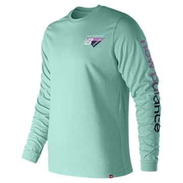 New Balance Essentials 90s Long Sleeve Tee, Light Reef