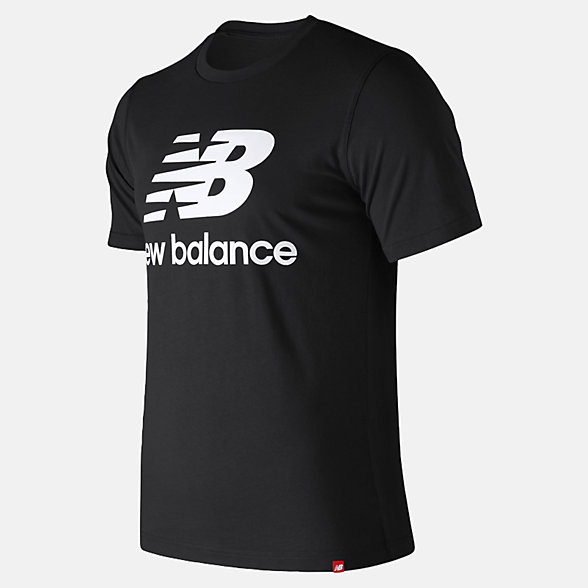 New Balance Essentials Stacked Logo Tee, MT91546BK