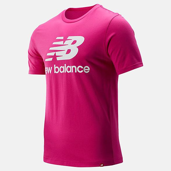 New Balance T-shirt avec logo Essentiel superposé, MT91546CNV