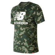 New Balance Essentials Stacked Logo Tee, Mineral Green