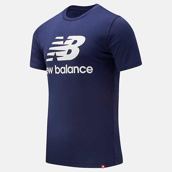 New Balance Essentials Stacked Logo Tee, MT91546PGM