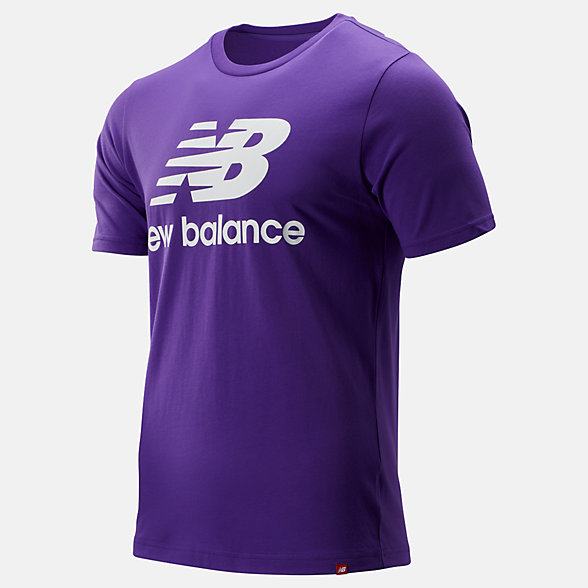 New Balance Essentials Stacked Logo Tee, MT91546PRP