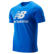 New Balance Essentials Stacked Logo Tee, Vivid Cobalt