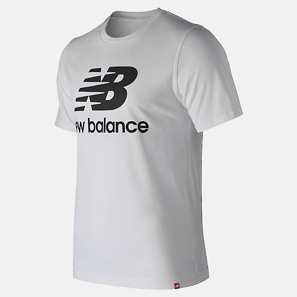 New Balance Essentials Stacked Logo Tee, MT91546WK