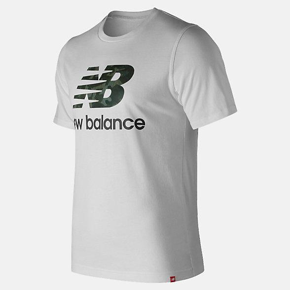 New Balance T-shirt avec logo Essentiel superposé, MT91546WM