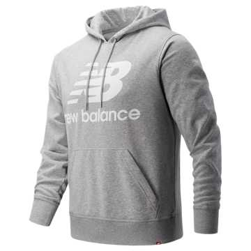 New Balance Essentials Stacked Logo Pullover Hoodie, Athletic Grey