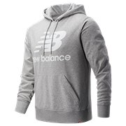 1eb43a604d765 New Balance Essentials Stacked Logo Pullover Hoodie, Athletic Grey