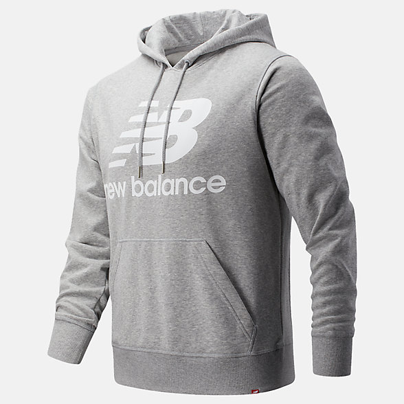 New Balance Chandail à capuche à logo superposé Po Essentials, MT91547AG
