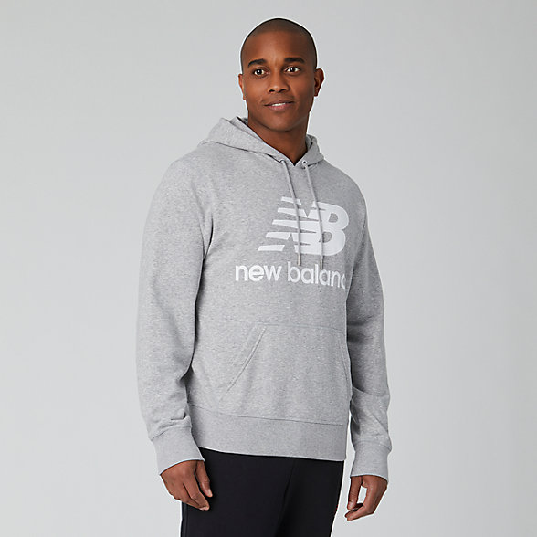 New Balance Essentials Stacked Logo Pullover Hoodie, MT91547AG