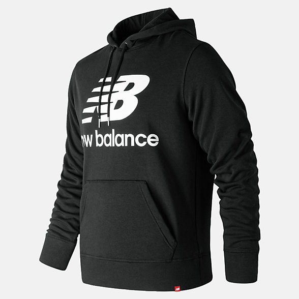 NB Sudadera Con Capucha Essentials Stacked Logo Pullover, MT91547BK