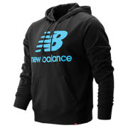 NB Essentials Stacked Logo Po Hoodie, Black Multi