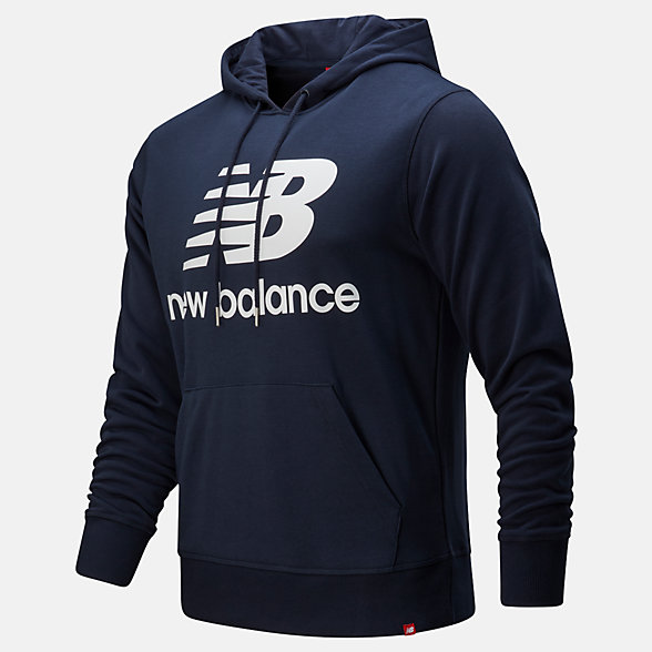 NB Essentials Stacked Logo Pullover Hoodie, MT91547ECL