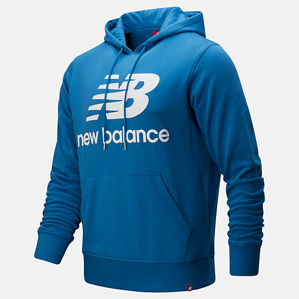 New Balance Essentials Stacked Logo Pullover Hoodie, MT91547MAK